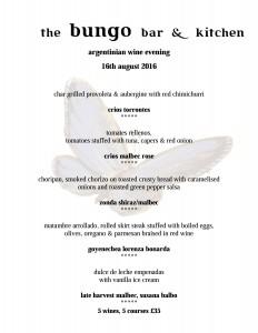 argentinian wine tasting menu